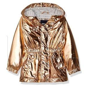Limited Too Anorak Rose Gold Metallic Jacket